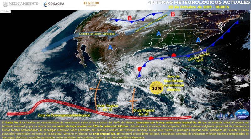 *Continúa pronóstico de lluvias para Guerrero*
